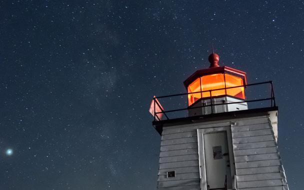 light house in a dark night symbolizing having a Product Plan like the North Star Framework
